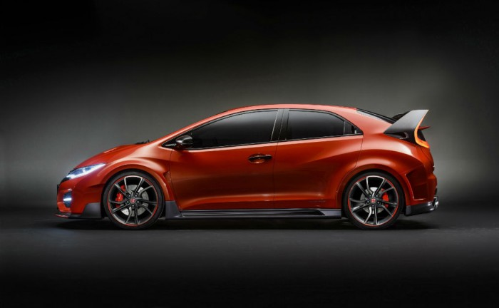 Honda Civic Type R Concept Side carwitter 700x432 - 2016 Honda Civic Type R Concept storms Geneva 2014 - 2016 Honda Civic Type R Concept storms Geneva 2014