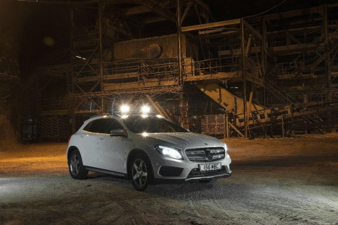 Mercedes Benz GLA Salt Mine UK Launch - Front - carwitter