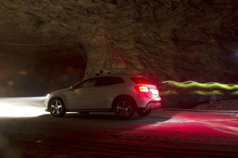Mercedes Benz GLA Salt Mine UK Launch - Side Lighting - carwitter