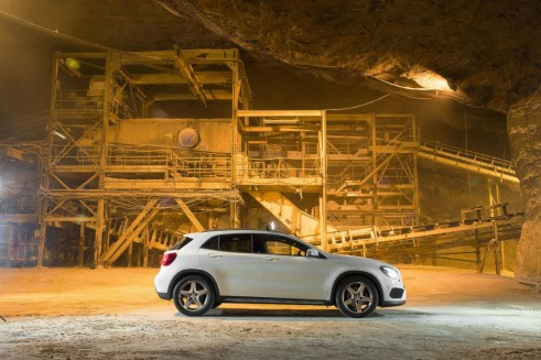 Mercedes Benz GLA Salt Mine UK Launch - Side - carwitter