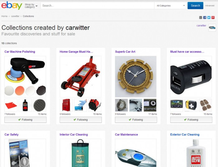 eBay Collections carwitter 700x537 - 5 Tips to Saving Money Online - 5 Tips to Saving Money Online