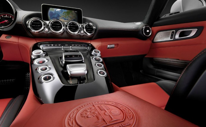 2014 Mercedes AMG GT Interior Centre Console carwitter 700x432 - Mercedes tease AMG GT the SLS replacement - Mercedes tease AMG GT the SLS replacement