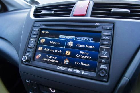 Honda Civic Tourer Review - Sat Nav - carwitter