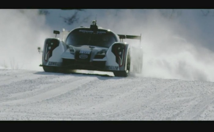 Jon Olssons Rebellion R2K On Snow carwitter 700x432 - Road Legal Le Mans Racer + Ski Slope - Road Legal Le Mans Racer + Ski Slope