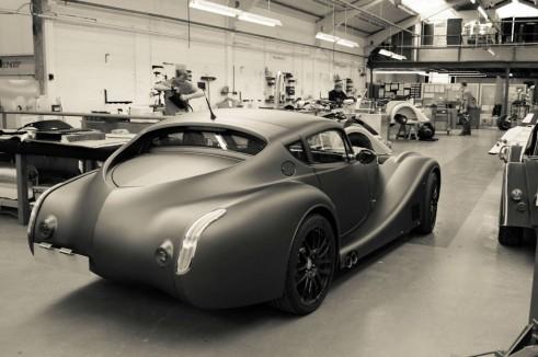 Morgan Factory Visit Tour - Aero 8 Rear Angle - carwitter
