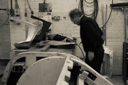 Morgan Factory Visit Tour - Hammering - carwitter