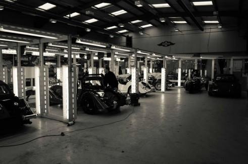 Morgan Factory Visit Tour - Inspection Bays - carwitter