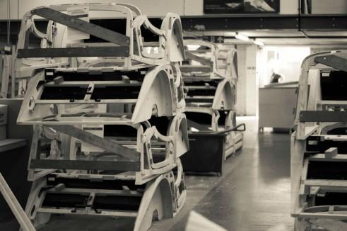 Morgan Factory Visit Tour - Plus 4 Bodies Stacked - carwitter