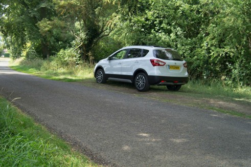 Suzuki SX4 S Cross Review Rear Angle carwitter 491x326 - Suzuki SX4 S-Cross Review – Late contender - Suzuki SX4 S-Cross Review – Late contender