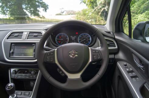 Suzuki SX4 S Cross Review Steering Wheel carwitter 491x326 - Suzuki SX4 S-Cross Review – Late contender - Suzuki SX4 S-Cross Review – Late contender