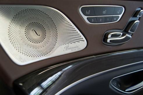 2014 Mercedes S Class Review - Burmester Logo - carwitter