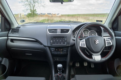 2014 Suzuki Swift Sport Review Dashboard carwitter 491x326 - 2014 Suzuki Swift Sport Review – It just gets better - 2014 Suzuki Swift Sport Review – It just gets better