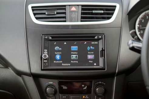 2014 Suzuki Swift Sport Review Infotainment carwitter 491x326 - 2014 Suzuki Swift Sport Review – It just gets better - 2014 Suzuki Swift Sport Review – It just gets better