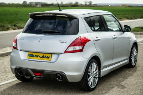 2014 Suzuki Swift Sport Review Rear Angle carwitter 491x326 - 2014 Suzuki Swift Sport Review – It just gets better - 2014 Suzuki Swift Sport Review – It just gets better