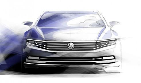 2015 VW Passat tease carwitter 491x289 - VW reveals first details of new 2015 Passat - VW reveals first details of new 2015 Passat