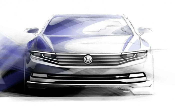 2015 VW Passat tease carwitter 700x432 - VW reveals first details of new 2015 Passat - VW reveals first details of new 2015 Passat