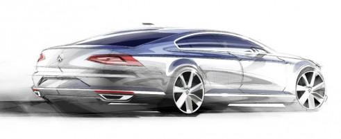 2015 VW Passat tease rear carwitter 491x201 - VW reveals first details of new 2015 Passat - VW reveals first details of new 2015 Passat