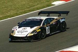 Blancpain 2014 Brands Hatch Lamborghini GT3 carwitter 300x200 - Blancpain 2014 – Brands Hatch – Grasser storm to first victory - Blancpain 2014 – Brands Hatch – Grasser storm to first victory