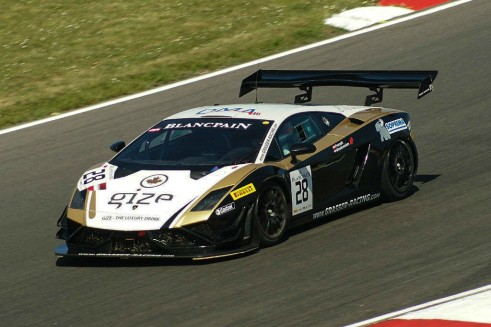 Blancpain 2014 Brands Hatch Lamborghini GT3 carwitter 491x327 - Blancpain 2014 – Brands Hatch – Grasser storm to first victory - Blancpain 2014 – Brands Hatch – Grasser storm to first victory