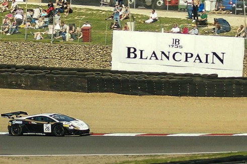 Blancpain 2014 Brands Hatch Lamborghini Logo carwitter 491x326 - Blancpain 2014 – Brands Hatch – Grasser storm to first victory - Blancpain 2014 – Brands Hatch – Grasser storm to first victory