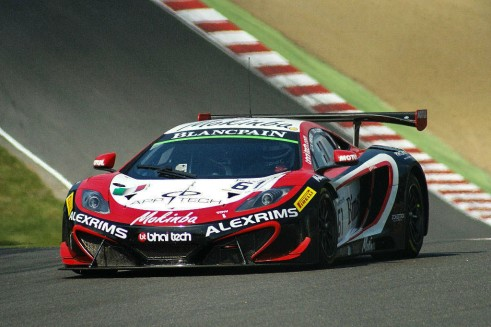 Blancpain 2014 Brands Hatch McLaren carwitter 491x327 - Blancpain 2014 – Brands Hatch – Grasser storm to first victory - Blancpain 2014 – Brands Hatch – Grasser storm to first victory