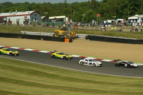 Blancpain 2014 Brands Hatch Racing Action carwitter 491x327 - Blancpain 2014 – Brands Hatch – Grasser storm to first victory - Blancpain 2014 – Brands Hatch – Grasser storm to first victory