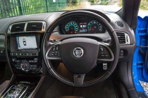 Jaguar XKRS Review Steering Wheel carwitter 491x326 - Jaguar XKR-S Review – A dying breed - Jaguar XKR-S Review – A dying breed