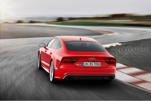 2014 Audi RS7 rear 2 carwitter 491x327 - Audi gives the 2014 RS7 a nip-tuck - Audi gives the 2014 RS7 a nip-tuck