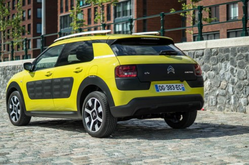 Citroen C4 Cactus Review Yellow Rear Angle carwitter 491x326 - Citroen C4 Cactus Review - The Future - Citroen C4 Cactus Review - The Future