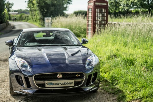 Jaguar F Type S Coupe Front Road Scene carwitter 491x326 - Jaguar F-Type S Coupe Review – Still the one to buy - Jaguar F-Type S Coupe Review – Still the one to buy