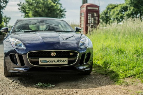 Jaguar F Type S Coupe Front Scene Phonebox carwitter 491x326 - Jaguar F-Type S Coupe Review – Still the one to buy - Jaguar F-Type S Coupe Review – Still the one to buy