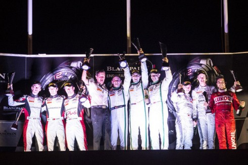 2014 Blancpain Endurance Series Paul Ricard Podium carwitter 491x327 - Blancpain 2014 - Paul Ricard - Bentley battle to second victory - Blancpain 2014 - Paul Ricard - Bentley battle to second victory