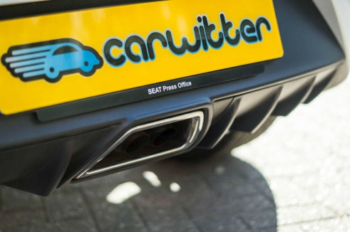 2014 Seat Ibiza Cupra Exhaust Pipe carwitter 491x326 - 2014 Seat Ibiza Cupra Review - The outsider - 2014 Seat Ibiza Cupra Review - The outsider