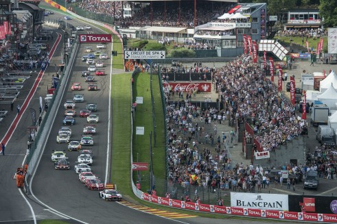 2014 Spa 24 hours start carwitter 491x327 - Blancpain Endurance Season Review 2014 - Blancpain Endurance Season Review 2014
