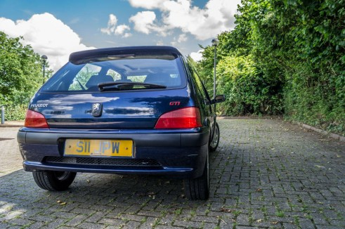 Mauritius Blue Peugeot 106 GTi - After Clean - Rear - carwitter