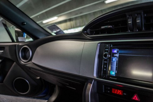Subaru BRZ Review - Passenger Fascia Panel - Carwitter