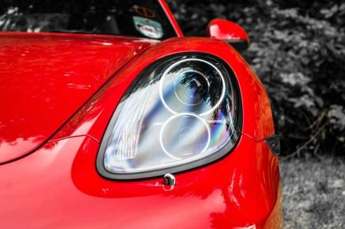 2014 Porsche Cayman Review - Headlight - carwitter