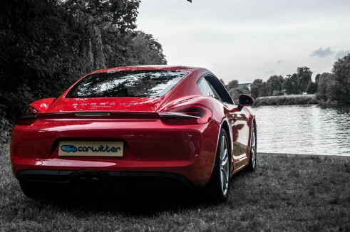 2014 Porsche Cayman Review - Rear Scene Angle - carwitter
