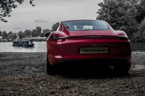 2014 Porsche Cayman Review - Rear Scene - carwitter
