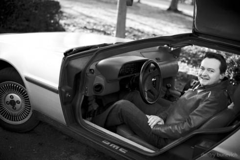 Delorean DMC 12 Chris Hawes In Car carwitter 491x327 - Owning a DeLorean - Owning a DeLorean