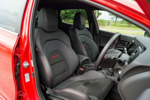 Kia Ceed GT Review Front Seats carwitter 491x326 - Kia Ceed GT Review – Four door fast - Kia Ceed GT Review – Four door fast