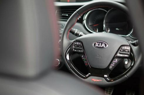 Kia Ceed GT Review Steering Wheel Scene carwitter 491x326 - Kia Ceed GT Review – Four door fast - Kia Ceed GT Review – Four door fast