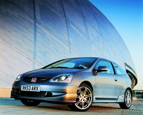 2003 Honda Civic Type R Front Angle carwitter 491x397 - The Rise of the Hyper Hatch - The Rise of the Hyper Hatch