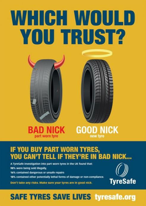 TyreSafe Part Worn Tyre carwitter 491x694 - Part worn tyres - DONT DO IT - Part worn tyres - DONT DO IT