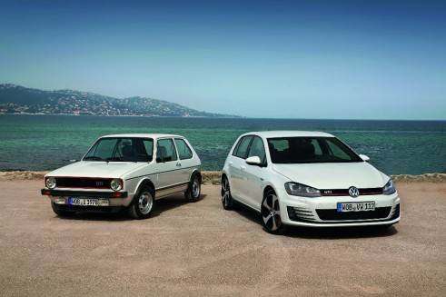 VW Golf GTI MK 1 and 7 Front carwitter 491x327 - The Rise of the Hyper Hatch - The Rise of the Hyper Hatch