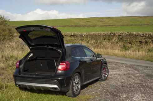 Mercedes GLA45 AMG boot carwitter 491x326 - Mercedes Benz GLA45 AMG Review - Lifted, not tamed - Mercedes Benz GLA45 AMG Review - Lifted, not tamed