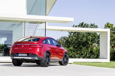 2015 Mercedes GLE Coupe AMG rear 2 - carwitter