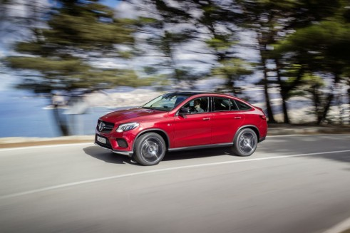 2015 Mercedes GLE Coupe AMG side - carwitter