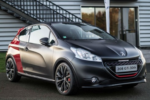 Peugeo 208 GTI 30th Anniversary - Front Angle Black - carwitter