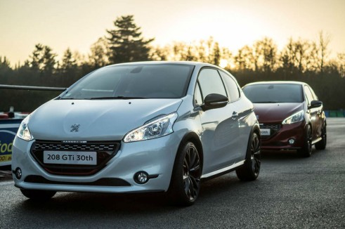 White Peugeot 208 GTI 30th Anniversary - Front Angle Scene - carwitter